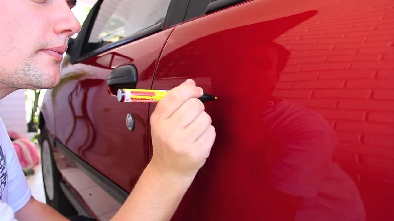 Как удалить царапины с машины